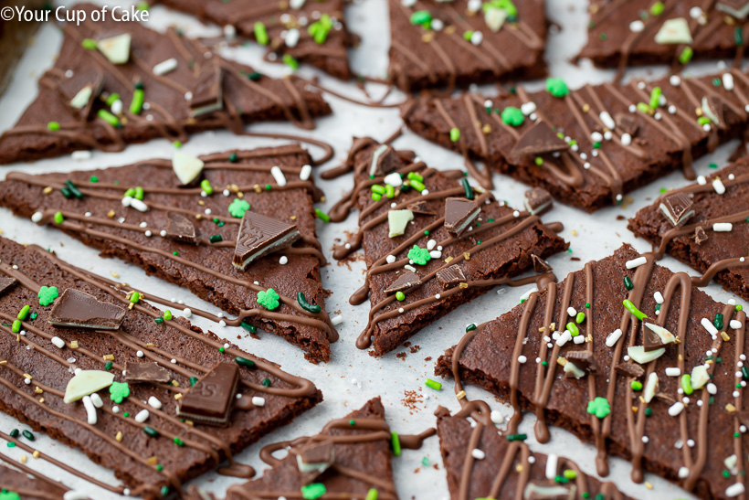 Love this stuff! Chocolate Mint Brownie Bark