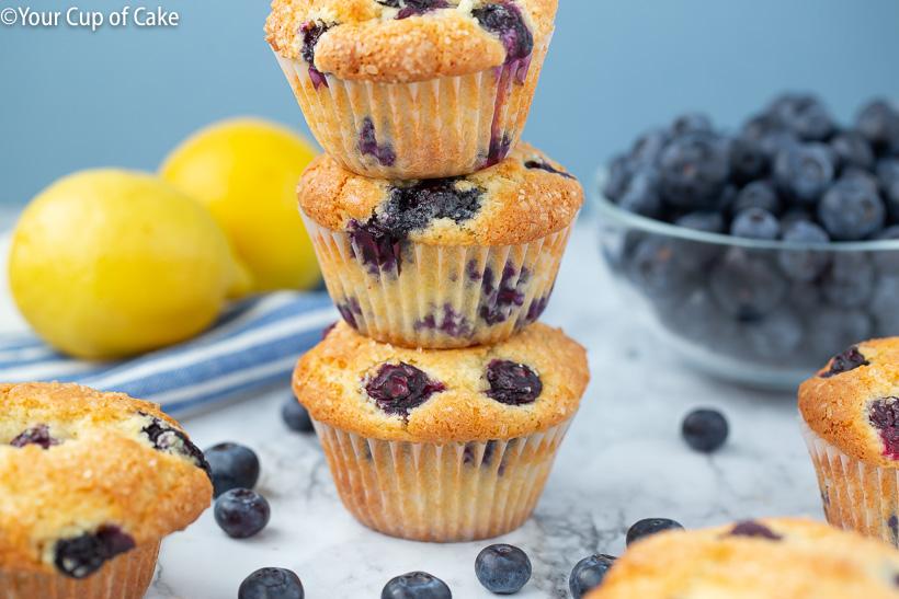 Super Easy Lemon Blueberry Muffins Recipe