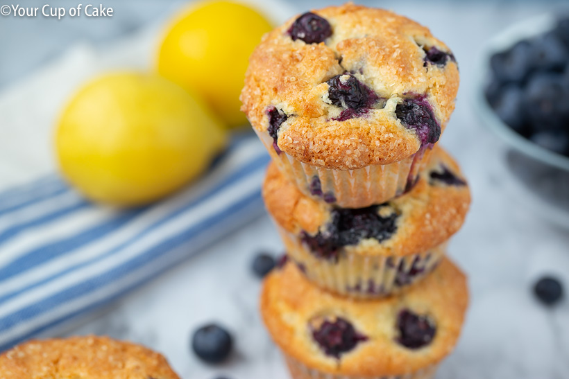 How to make Easy Lemon Blueberry Muffins