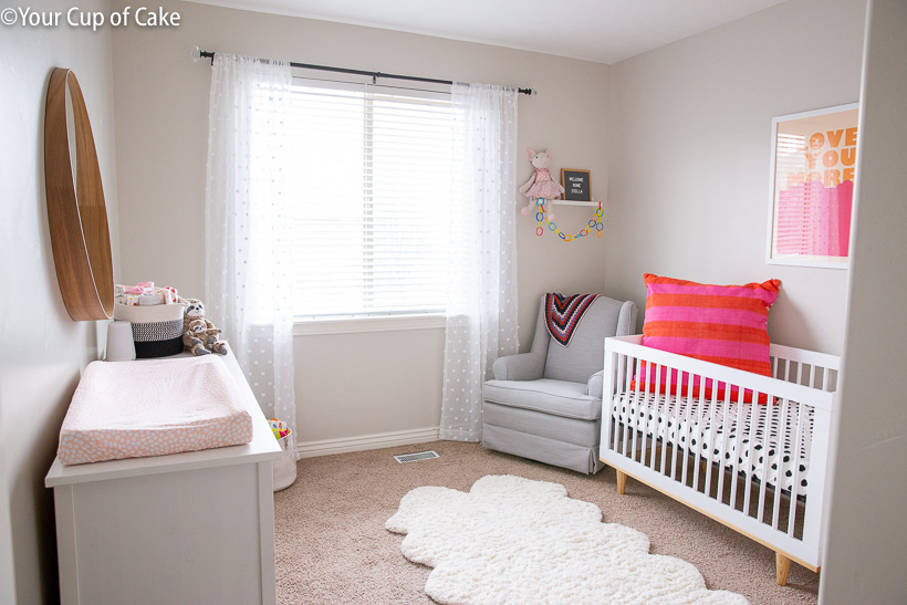 How to decorate a nursery on a budget!