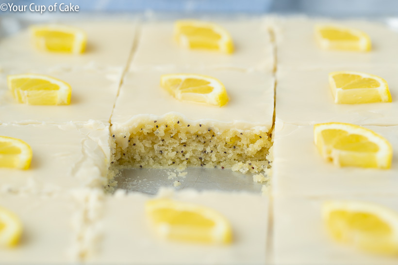 The most delicious Lemon Poppy Seed Sheet Cake recipe