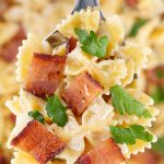 Easy One Pot Bacon Alfredo Pasta