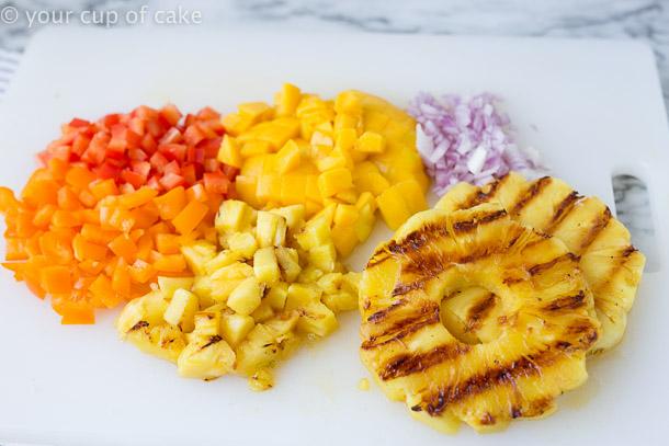 How to make Pineapple Mango Bruschetta