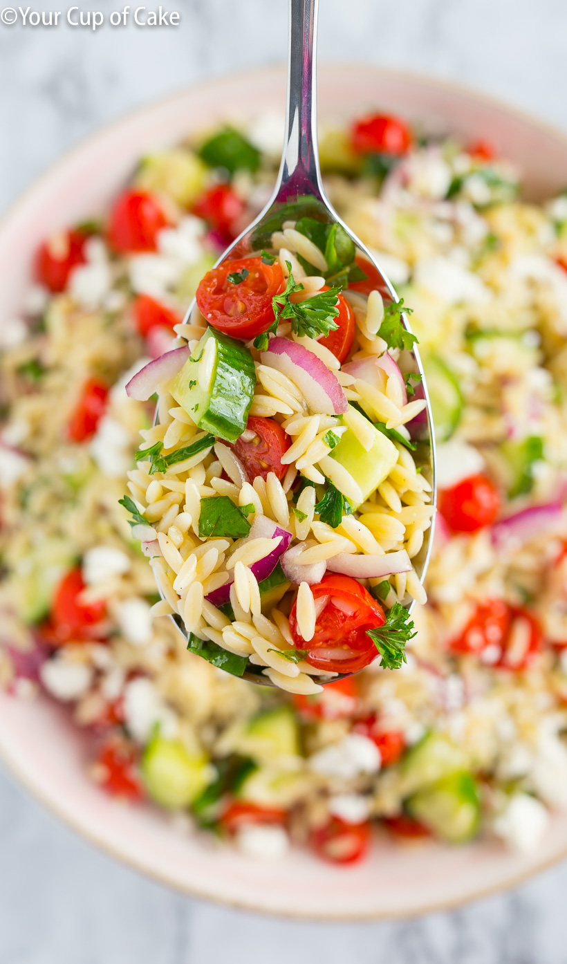 OBSESSED with this recipe. The BEST Orzo Pasta Salad!
