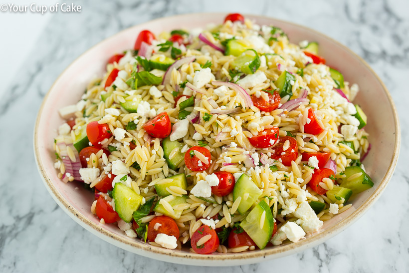 Quick and easy Greek Orzo Pasta Salad
