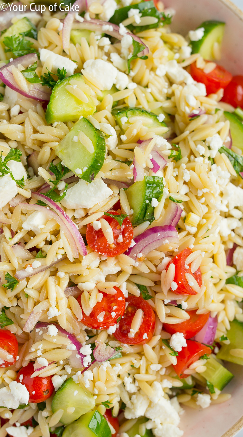 Easy to make Best Orzo Pasta Salad