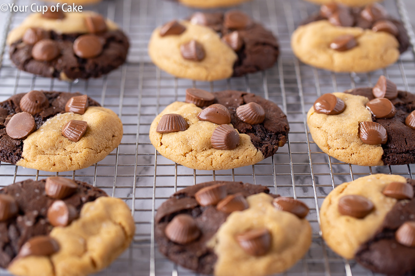 IN LOVE with these Ultimate Chocolate Peanut Butter Cookies