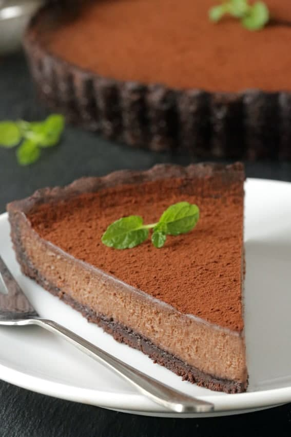 Delicious Chocolate Mint Tart!