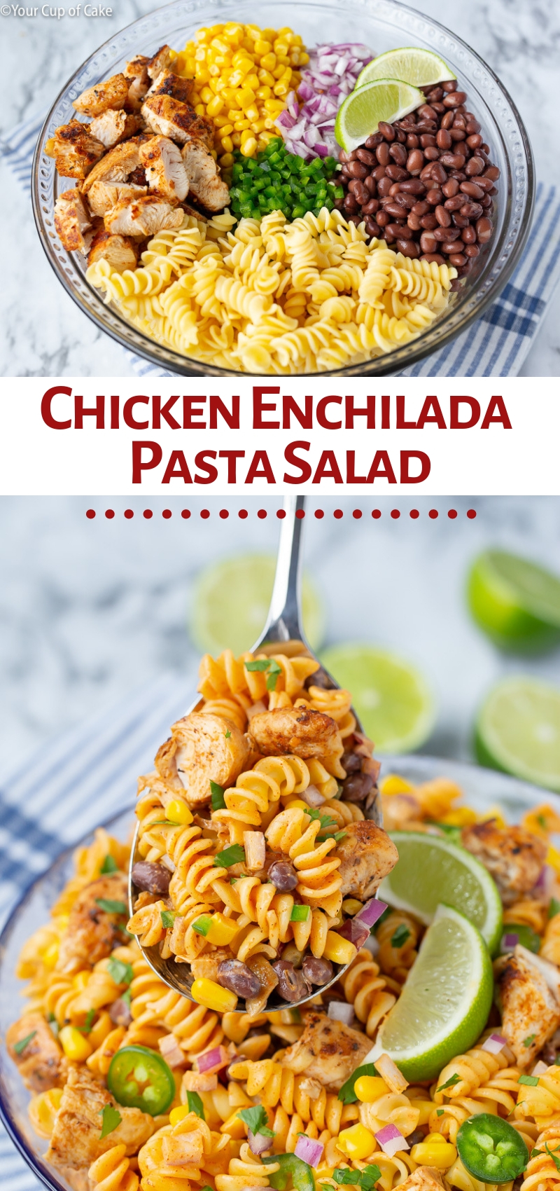 Zesty Chicken Enchilada Pasta Salad Your Cup Of Cake