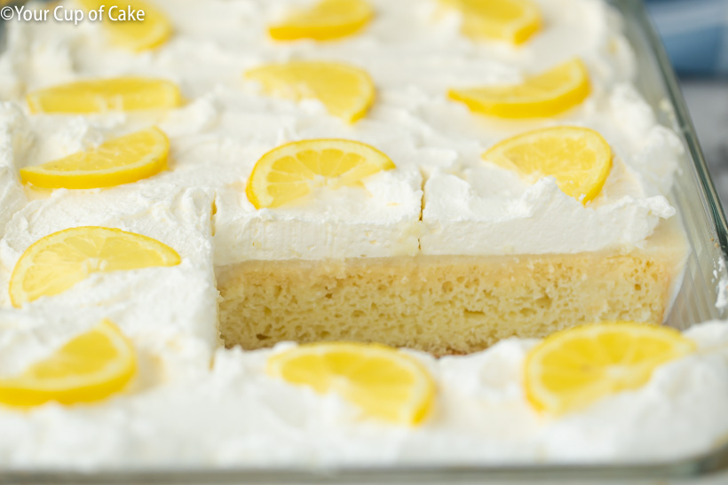 The BEST Lemon Poke Cake EVER!