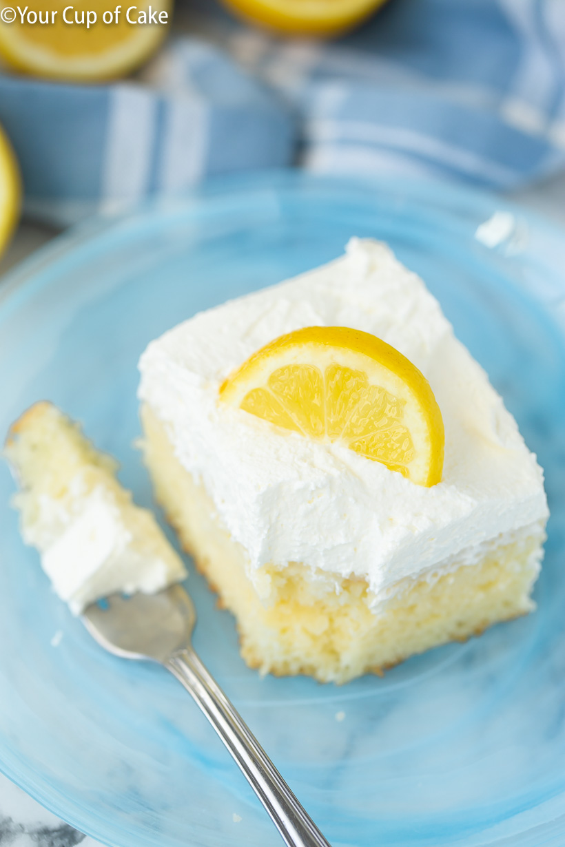 Our favorite summer recipe, Easy Lemon Cream Poke Cake