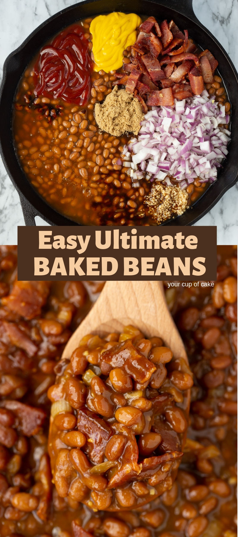 Make canned beans even better with this AWESOME recipe! Easy Ultimate Baked Beans