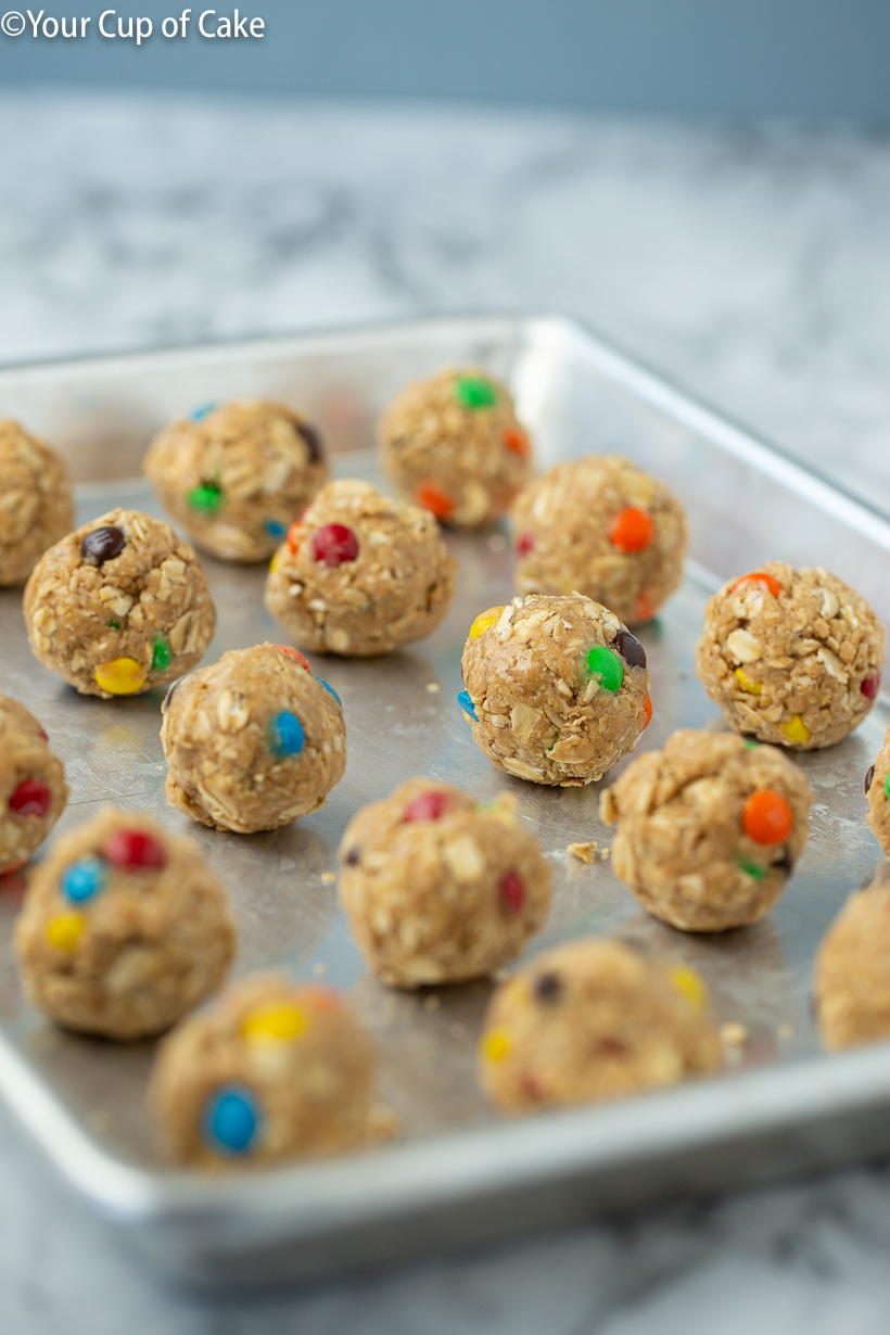 Recipe for the best protein bites Monster Cookie Protein Bites