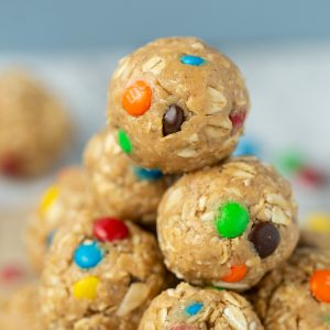 LOVE these protein bites!! Monster Cookie Protein Bites