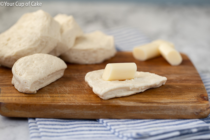 String cheese garlic bombs