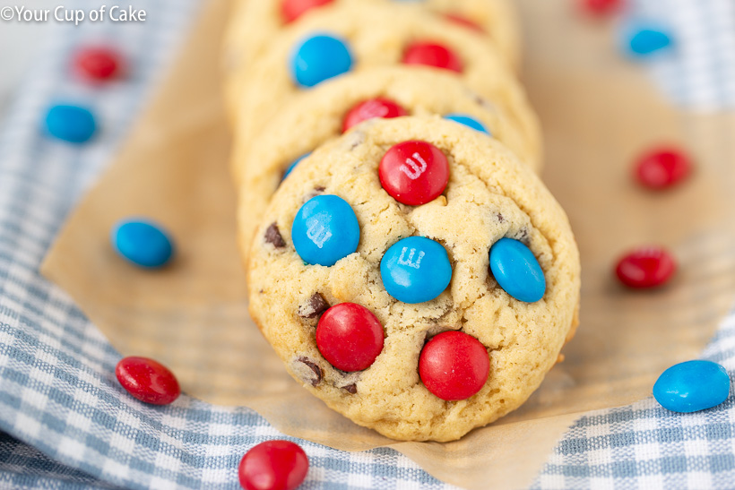 4th of July M&M Cookies