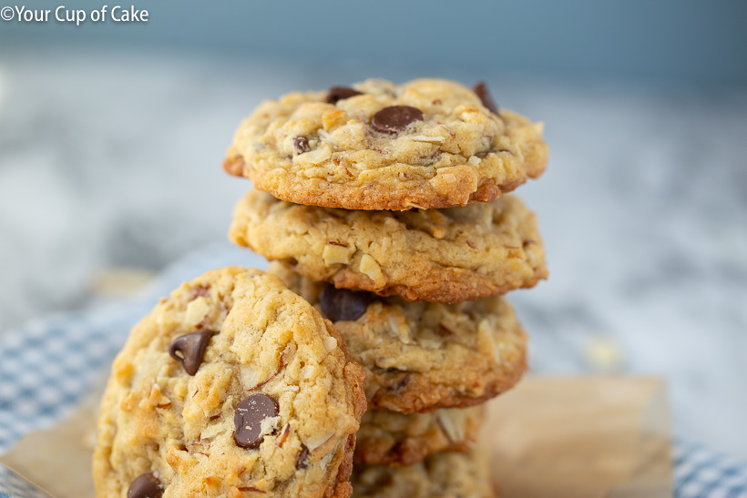 Chewy Almond Joy Cookies