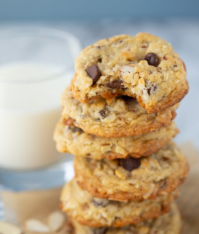 LOVE these Almond Joy Cookies with coconut and chocolate chips!