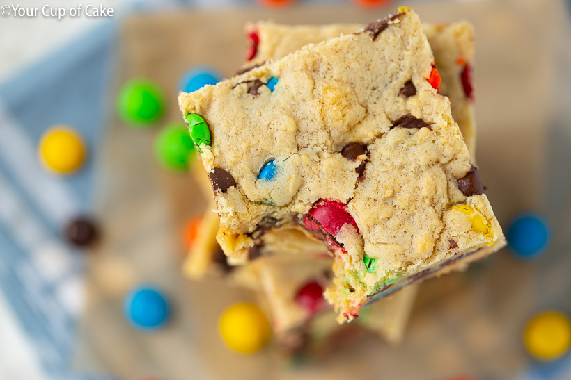 The Best M&M Cookie Bars
