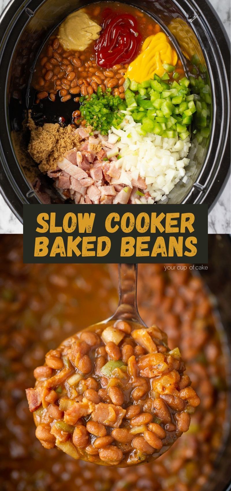 This recipe is AMAZING!! Slow Cooker BBQ Baked Beans