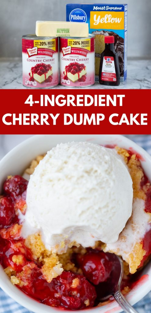 OBSESSED with this super simple cake mix dessert! Easy Cherry Dump Cake