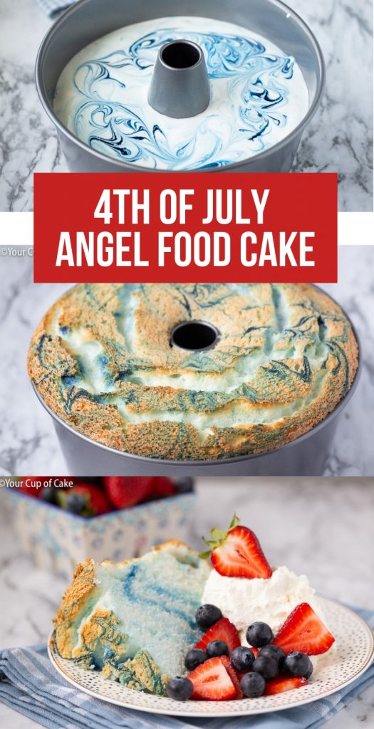 The EASIEST dessert ever.  4th of July Angel Food Cake