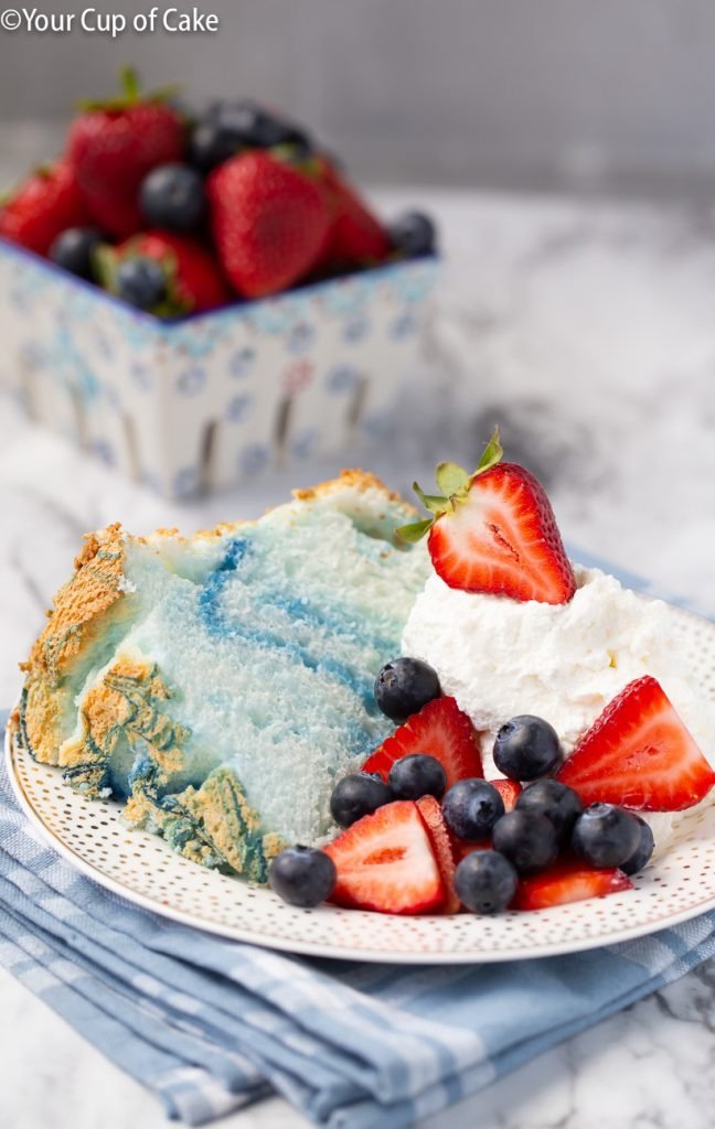 Crazy EASY 4th of July Angel Food Cake