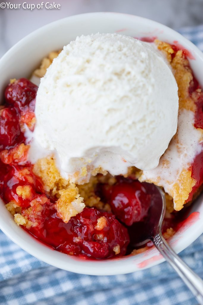 4 ingredient recipe for Easy Cherry Dump Cake