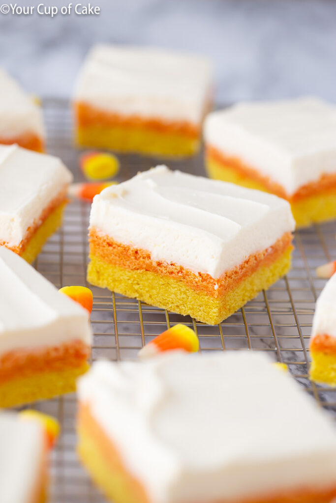 Halloween Dessert Candy Corn Sugar Cookie Bars