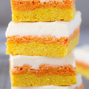 I'm IN LOVE with this recipe. THE BEST Candy Corn Sugar Cookie Bars