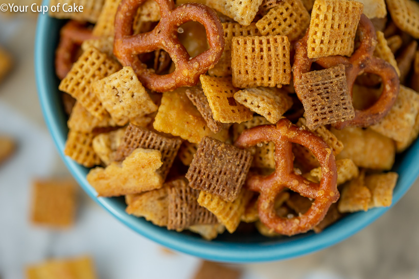 AMAZING Chex Mix is easy to make