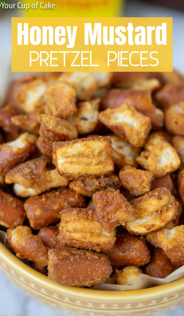 These are SOOO good! Honey Mustard Pretzel Pieces