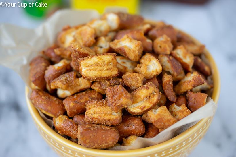 Honey Mustard Pretzels are the best snack!
