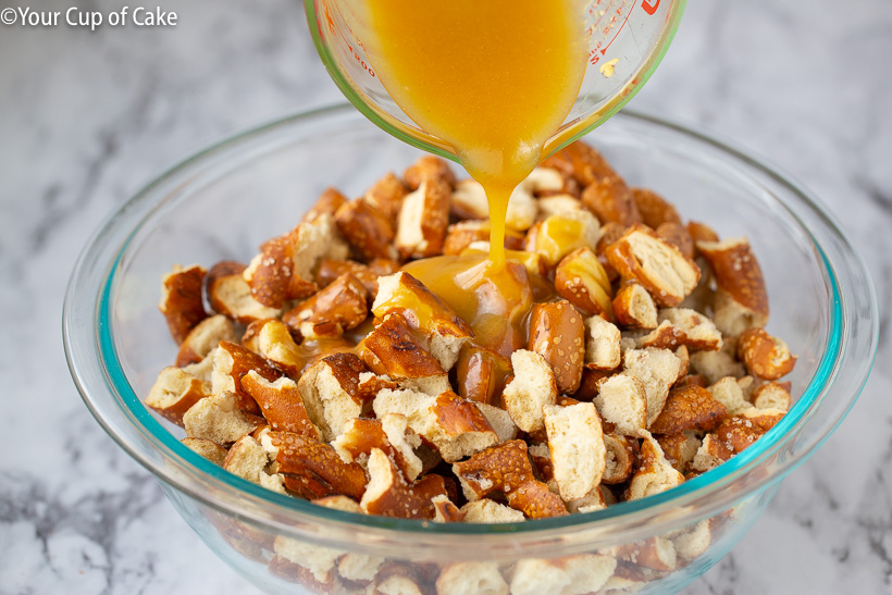 How to make Honey Mustard Pretzel Pieces