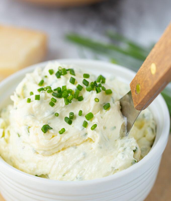 AMAZING Parmesan Chive Butter