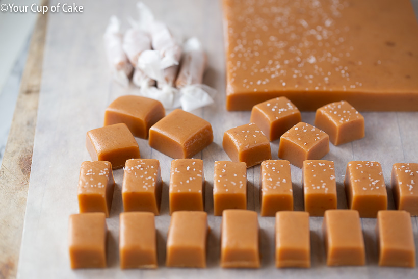Soft, buttery homemade caramels for Christmas