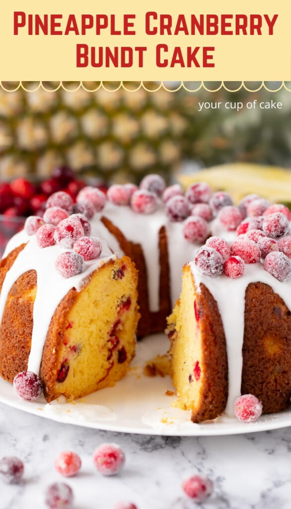 My family LOVES this Pineapple Cranberry Bundt Cake, I make it every Christmas