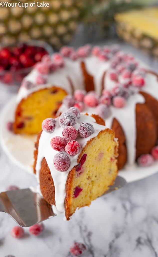 Christmas Cake! Pineapple Cranberry Bundt Cake